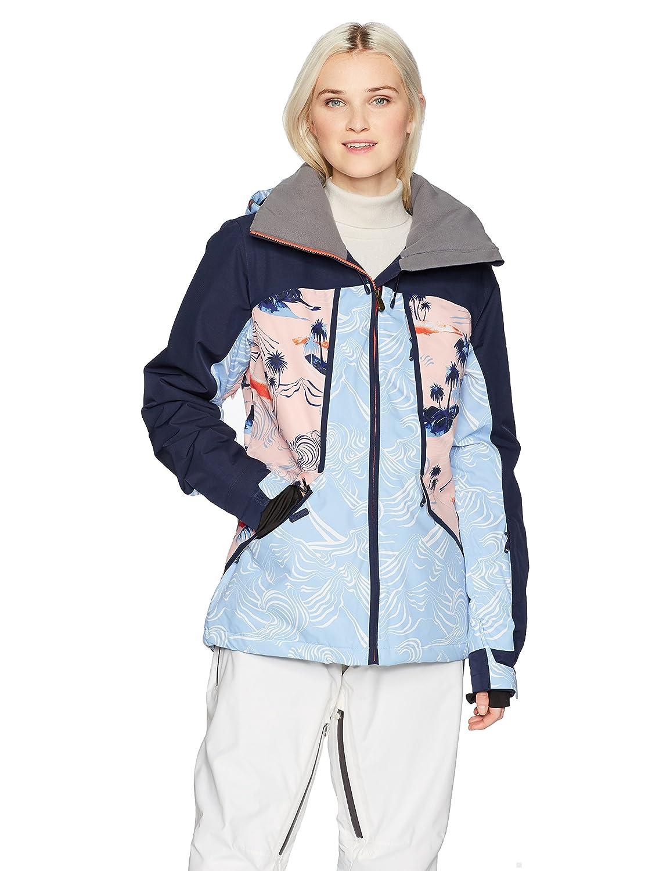 Mandarin orange_pop Snow Cryst Roxy Womens Wildlife Snow Jacket Insulated Jacket