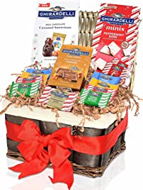 christmas gift basket ghirardelli 42pc u2013 caramel sea salt dark chocolates