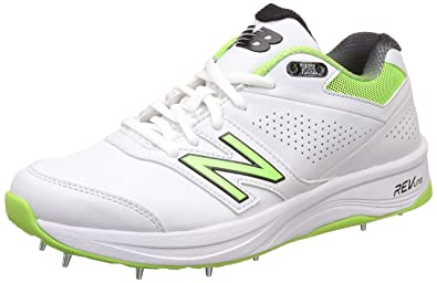 New Balance Men's 4030 V3 White Cricket Shoes - 10 UK/India (44.5 EU