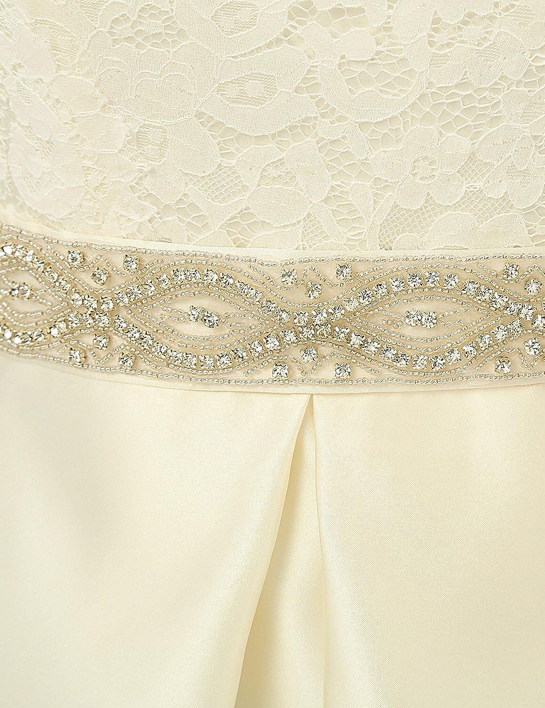 Jaeden Vintage-Hochzeitskleid, schlicht, Flügelärmel Gr ...
