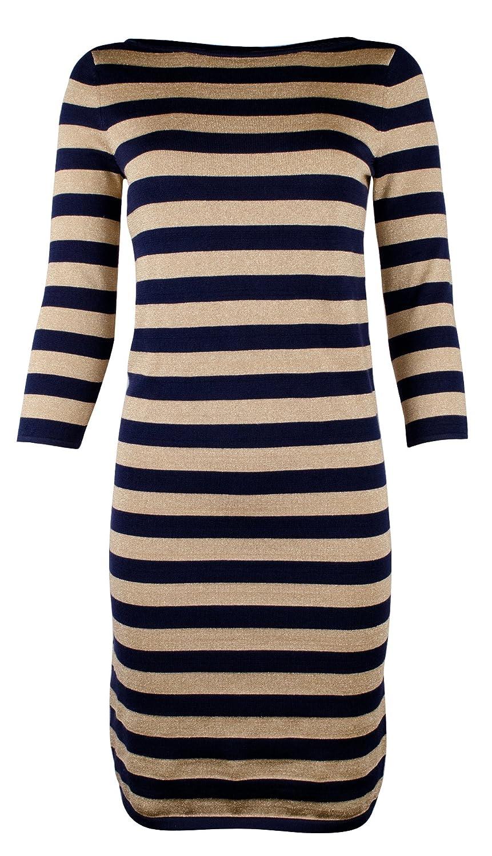 8c2aa36e9c2eb Lauren Ralph Lauren Women s Petite Striped Metallic Sweater Dress-NG-PS at  Amazon Women s Clothing store