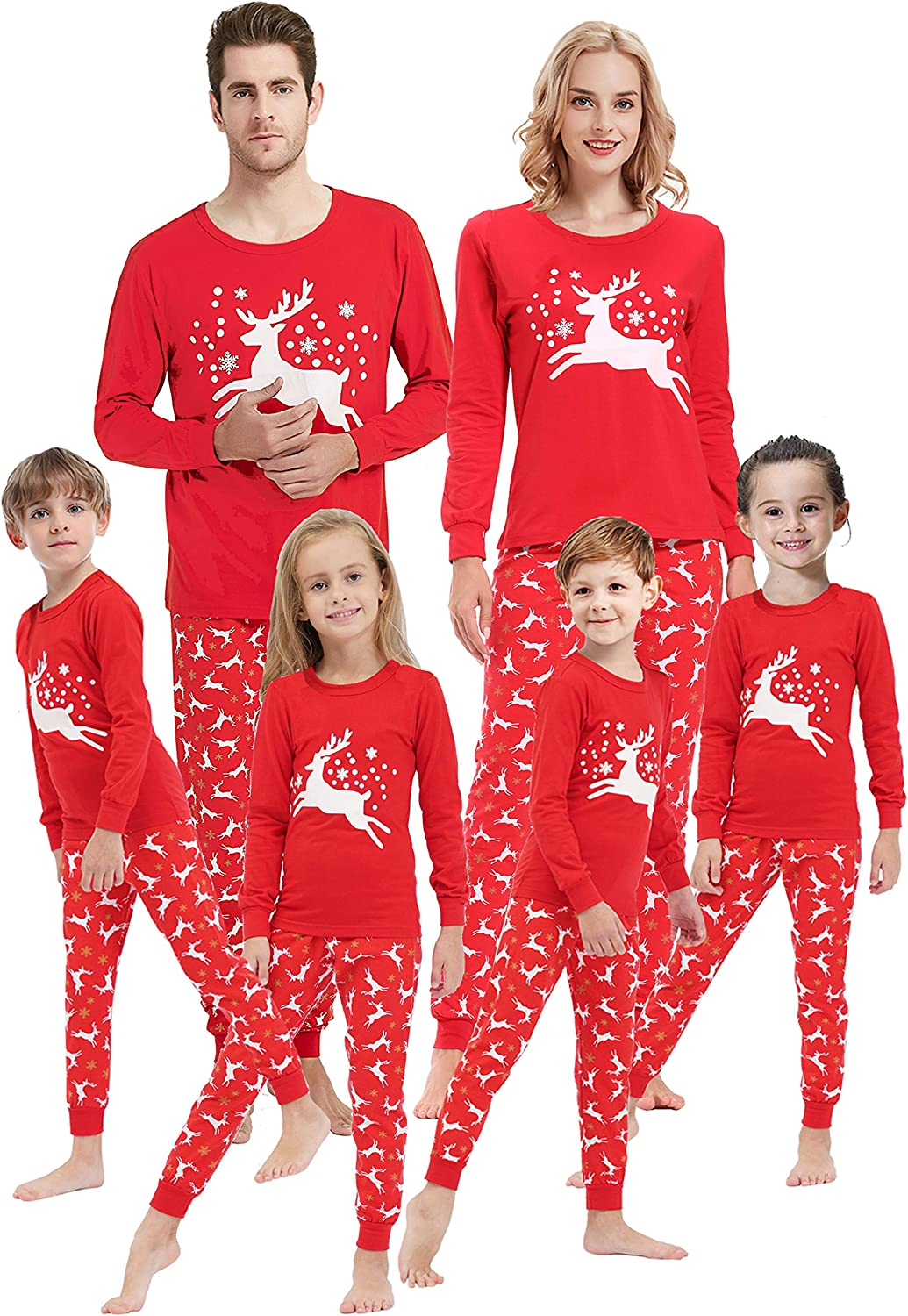 Matching Family Christmas Deer Pajamas Boys Girls Elk Pjs Women Men Clothes Children Sleepwear
