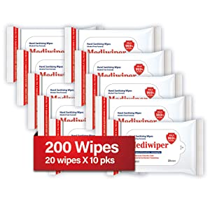 Refreshing Wet Wipes Alcohol-Free Wipes Travel Size to Sanitize/Clean/Deodorize Bulk Wipes (200 Wipes (2010pks, Prime))