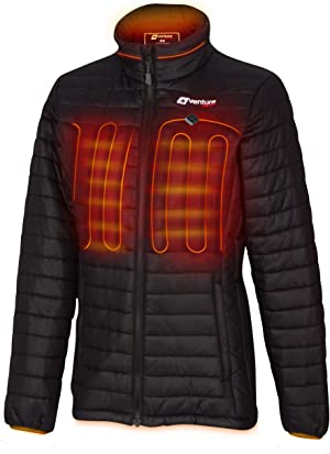 Venture Heat Women's Heated Jacket with Battery Pack - Insulated Electric Coat, Windproof, Traverse 2.0