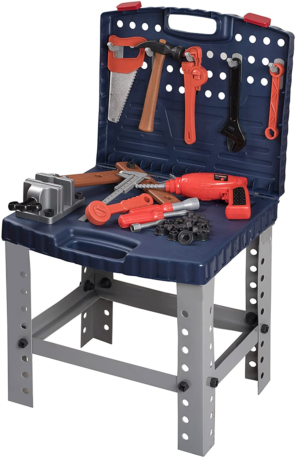 Childrens Pretend Play Toy Workbench Tool Set complete with Accessories