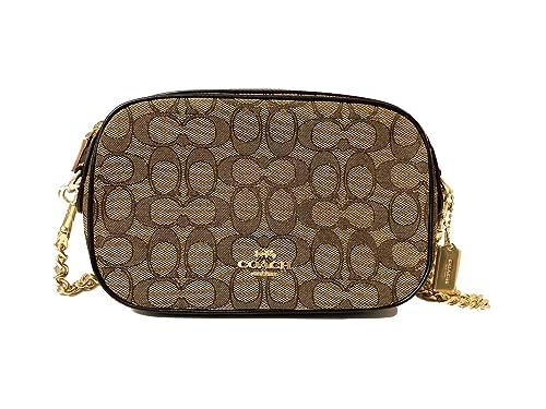 Coach Outline Signature Jacquard Isla Chain Crossbody Handbag  Amazon.ca   Shoes   Handbags 577ab2293a803