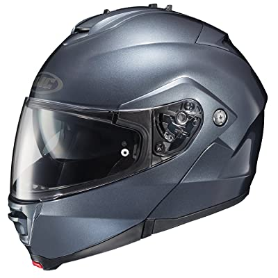 HJC Unisex-Adult Modular is-MAX II SF Helmet (Semi Flat Anthracite, 4X-Large): Automotive
