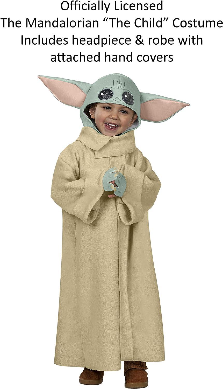 fleece baby yoda the child hat hood costume 14-adult mandalorian Star Wars grogu