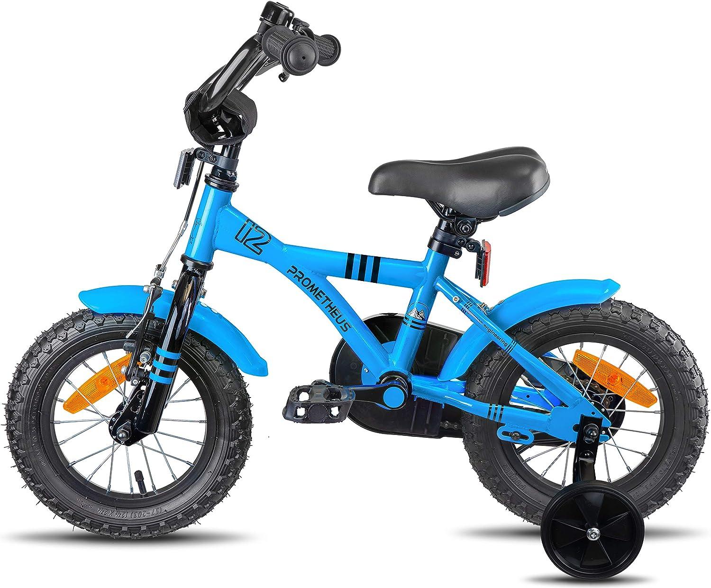 Prometheus Bicicleta Infantil | 12 Pulgadas | niño y niña | Azul ...