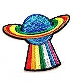Nipitshop Patches Rainbow Earth Spacecraft Cosmic