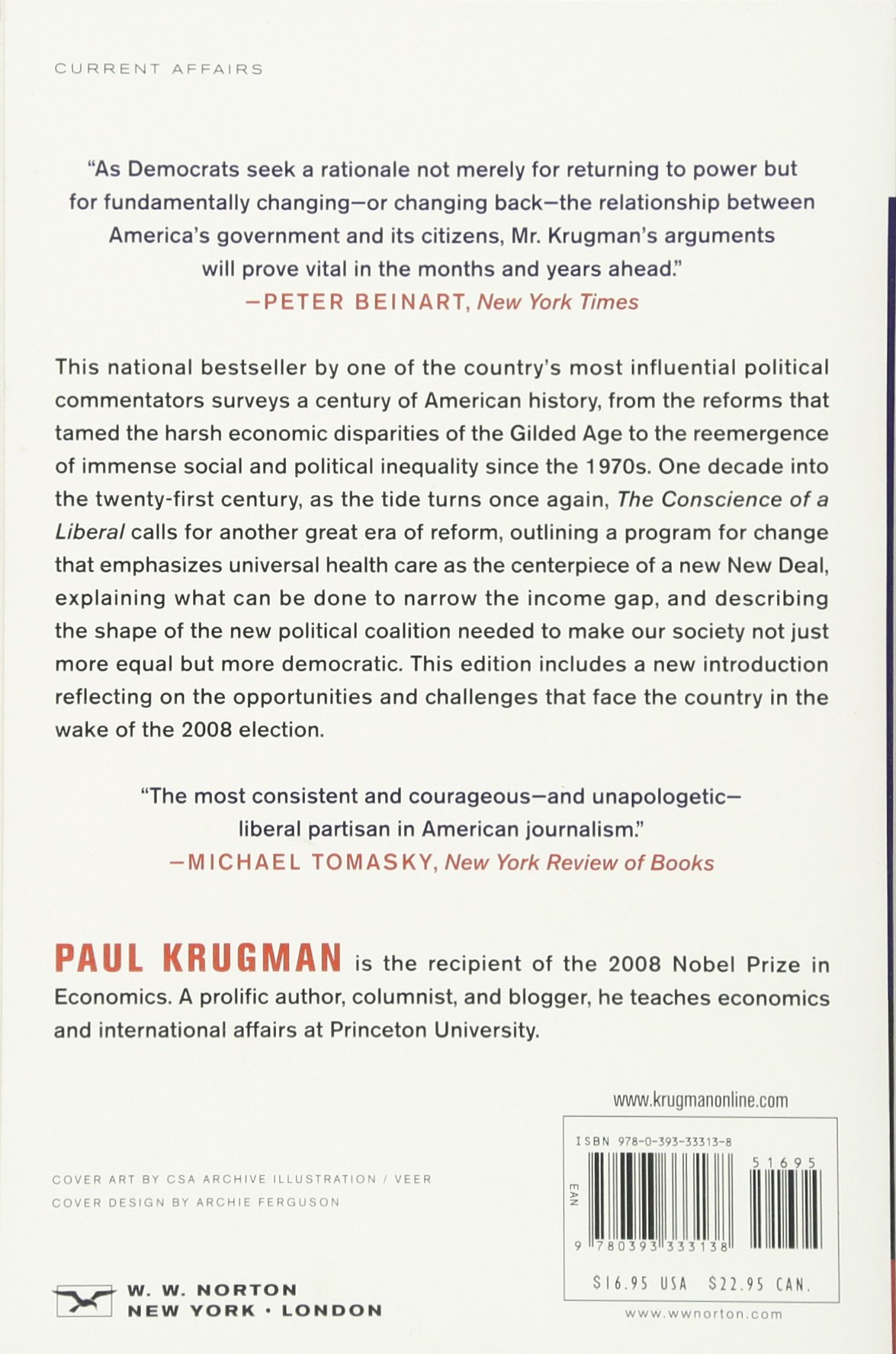 The conscience of a liberal paul krugman 9780393333138 amazon com books