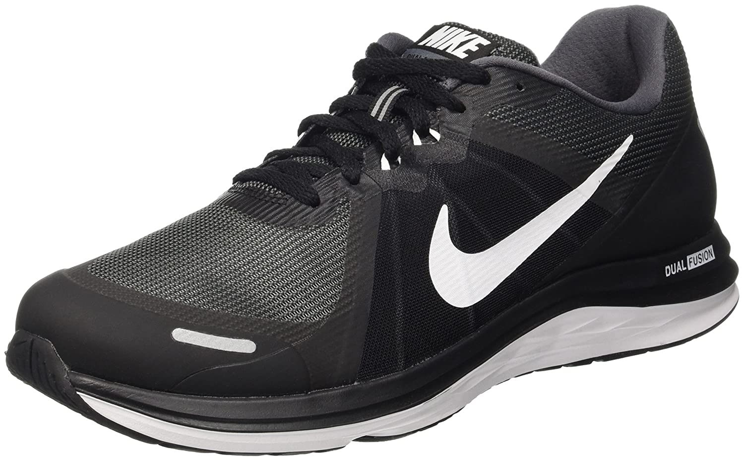 Nike Men's Dark Grey White Tri Fusion Run Performance Running Shoes black Sale Events