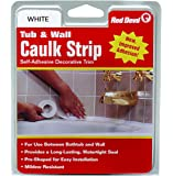 Red Devil 0151 Wide White Tub & Wall Caulk Strip 1-5/8-Inch by 11-Foot