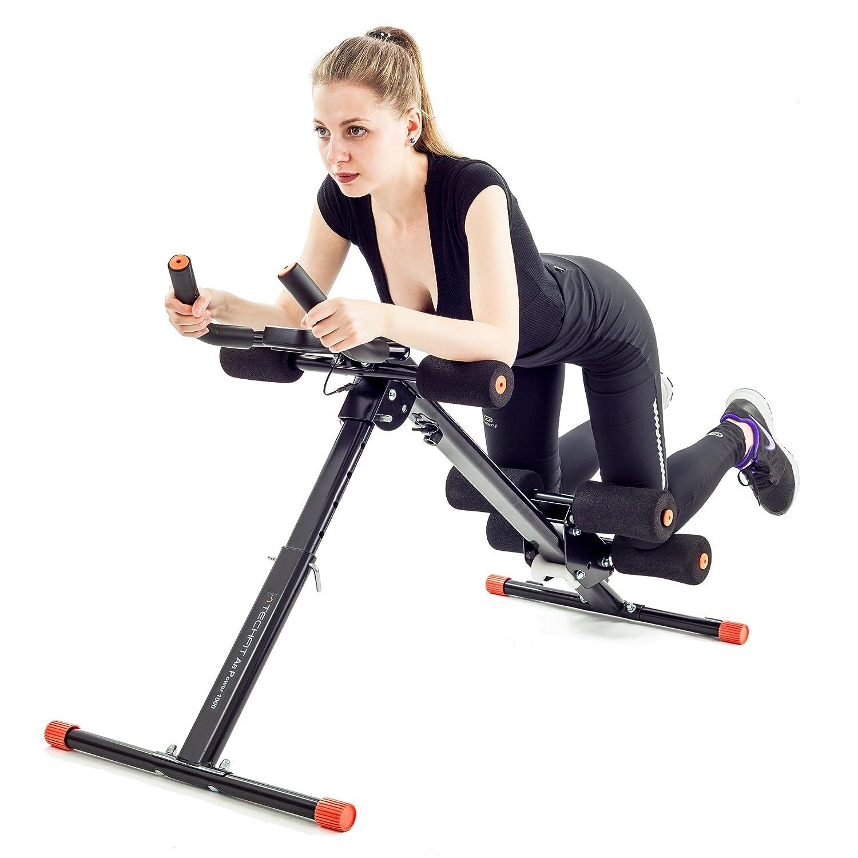 TechFit Falten Bauchtrainer, Vertikale Bauch Modellierung Gerät 5 Minuten, Vertikale Fitnessgeräte, Feste Bauch Unterstützung, Taille Gerät, Widerstand Plattform