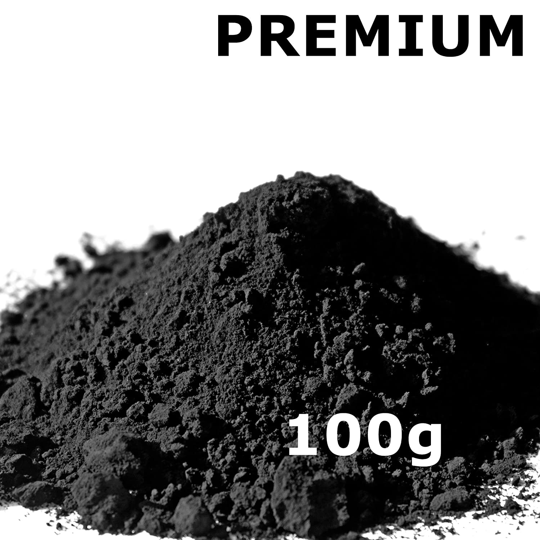 Pigmentpulver, Eisenoxid, Oxidfarbe - 100g (29,90€ /kg) im Beutel Farbpigmente, Trockenfarbe fü r Beton + Wand - Farbe: schwarz/black arcotec Mobilfunktechnik