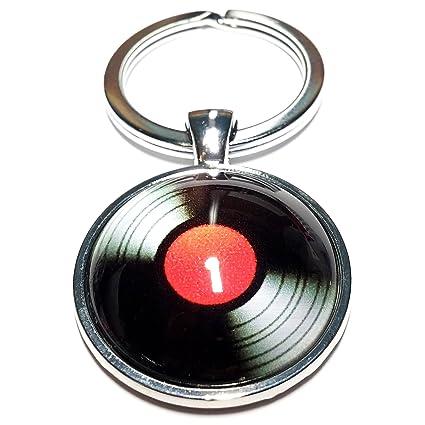 Cameleon-Shop Llavero Metal Disco Vinilo Negro Rojo: Amazon ...