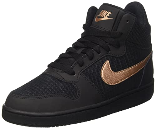 Nero 40 EU NIKE COURT BOROUGH MID SNEAKER DONNA BLACK/BLACK Scarpe