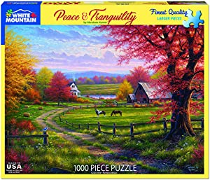 White Mountain Puzzles Peaceful Tranquility 1000 Piece Puzzle, 1 EA