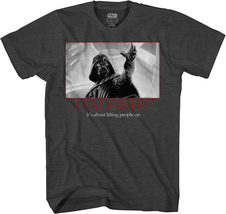 Star Wars Darth Vader Leadership Motivational Poster Mens T-Shirt