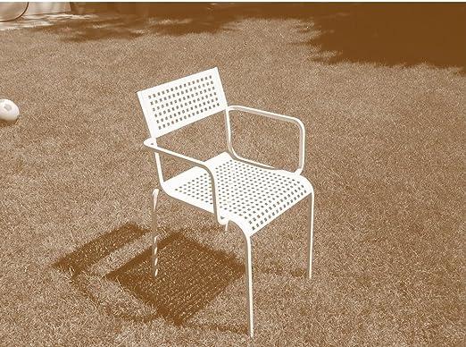 RD ITALIA Silla sillón Monella con reposabrazos Blanca Outlet: Amazon.es: Jardín
