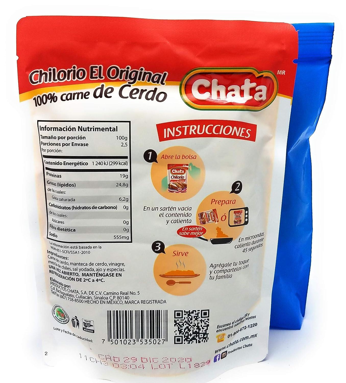 Chata Chilorio 100% Carne de Cerdo El Original 250g (Pack of 8)