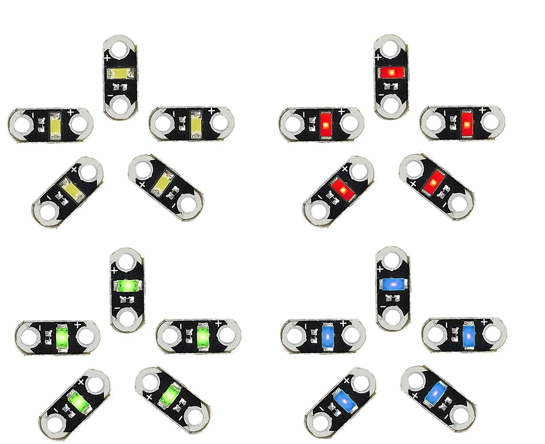 AMX3d Lilypad Arduino Color LED - Rojo, Verde, Azul & Blanco Jewel ...