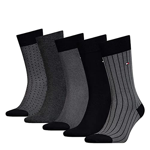 Pack 5 Pares Calcetines Tommy Jeans 39 Negro