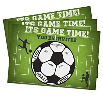Amazoncom Soccer Invitations Fill In Style 10 Count