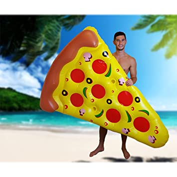 My Planet Pizza Inflable Flotador de Piscina: Amazon.es: Juguetes y juegos