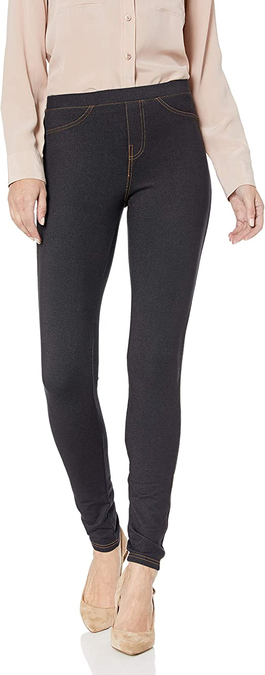 No nonsense Women's Stretch Denim Leggings, Black, Medium