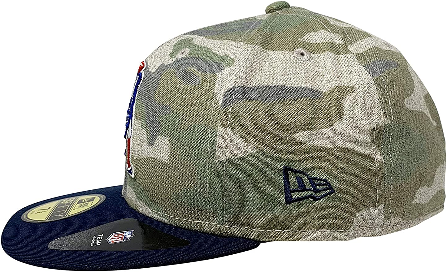 New Era New England Patriots Vintage Camo 59Fifty Fitted Hat NFL Football 5950 Flat Bill Baseball Cap