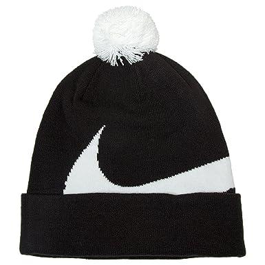 Nike Logo Pom Pom Beanie Hat B W O S Black White at Amazon Men s Clothing  store  72d9327ab35