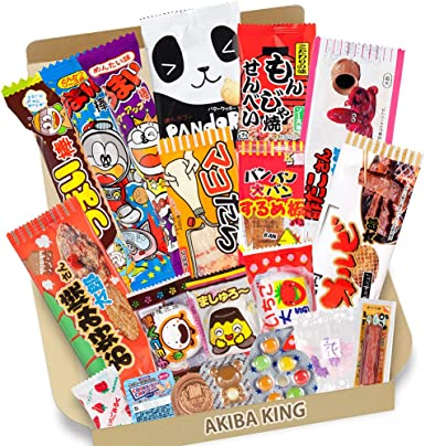 Trial Prueba japonesa Candy Dagashi snack Box 20pcs con adhesivo ...