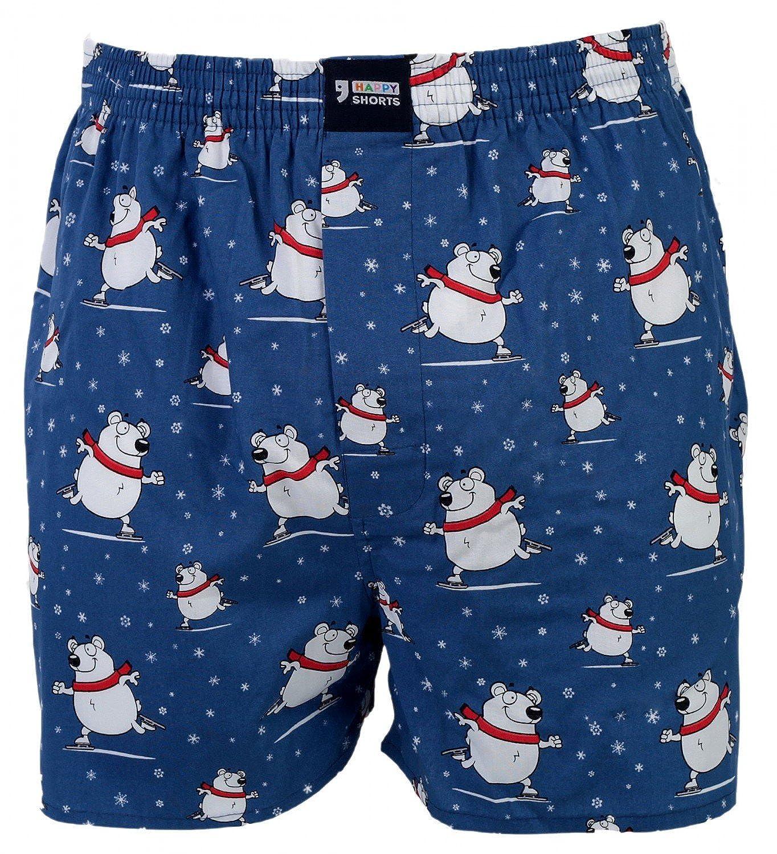 HAPPY SHORTS Webboxer Herren Weihnachten Boxer Christmas Motiv Boxershorts