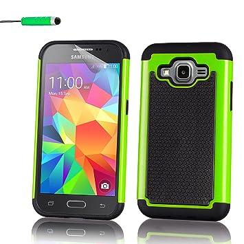 32nd® Funda Rígida Anti-Choques de Alta Proteccion para Samsung Galaxy Core Prime (SM-G360) Carcasa Defensora de Doble Capa - Verde