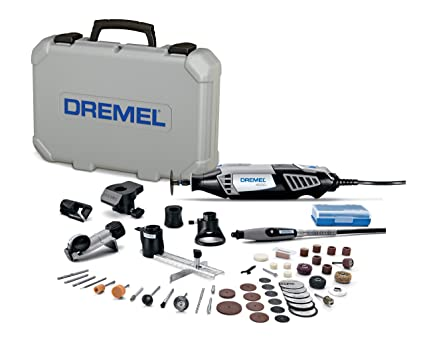 Dremel 4000-6/50-FF High Performance Rotary Tool Kit with Flex Shaft- 6  Attachments & 50 Accessories- Grinder, Sander, Polisher, Engraver- Perfect  For