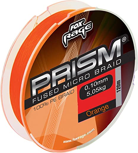 Fox Rage Prism Eco-Fused Braid 120 m Naranja Trenzado para Pesca ...