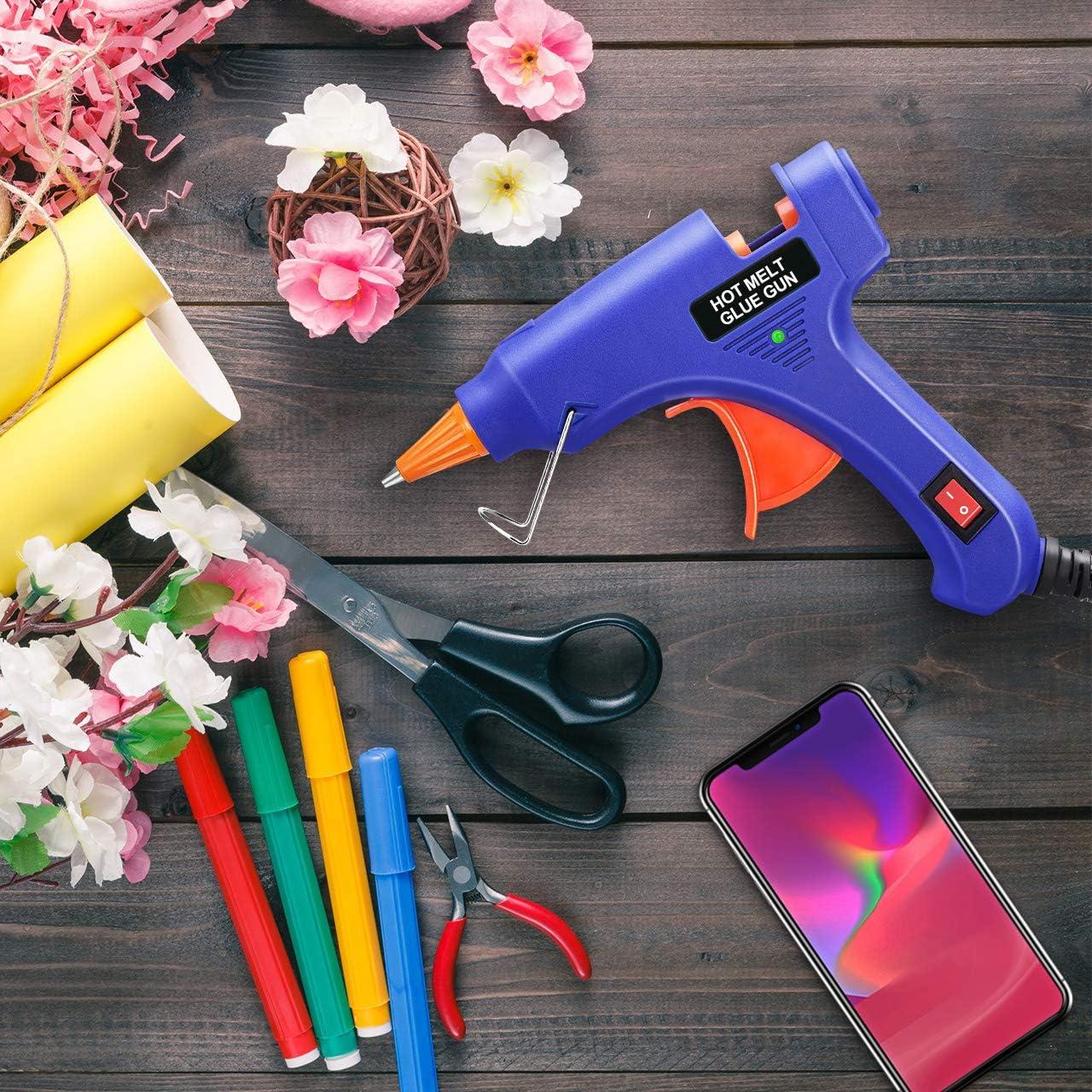Mini Pistolet /à Colle Chaude 30 B/âtons avec Doigtier,Pistolet Colle Chauffrage Rapide et S/ûr pour Petits Bateaux Projets /& Package Bricolage et R/éparations Rapides dans Maison /& Bureau