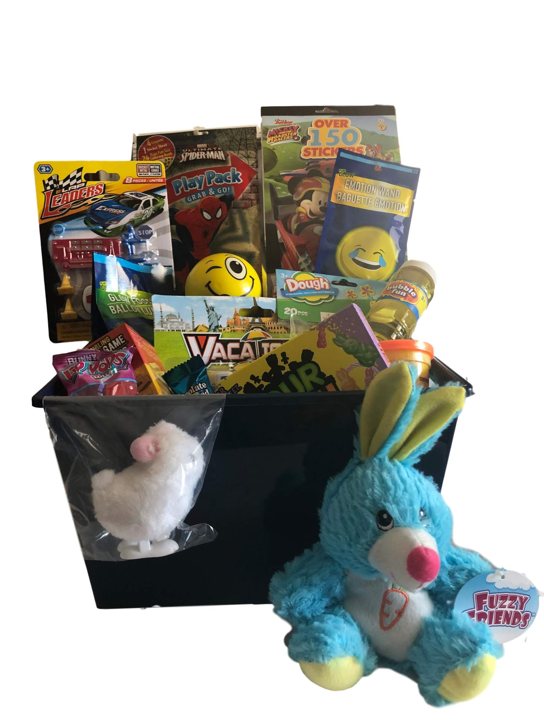 Easter Basket for Boy Vacation Camper Lap Leader Cars Glow Footbal Race Car Stickers and Much More