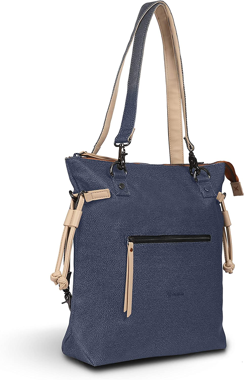 Sherpani Citizen, Convertible Backpack Tote, Backpack Handbag, Canvas Totepack, Fashion Handbag for Women Fits 10 Inch Tablet