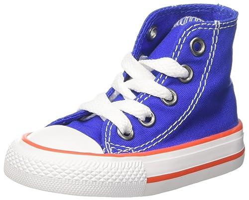 Converse Unisex Kids CTAS Hi Top Trainers Blau Hyper Royal/Bright Poppy/White