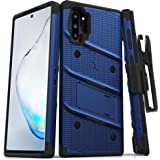 ZIZO Bolt Series for Samsung Galaxy Note 10 Plus Case | Heavy-Duty Military-Grade Drop Protection w/Kickstand Included Belt Clip Holster Lanyard (Blue/Black)