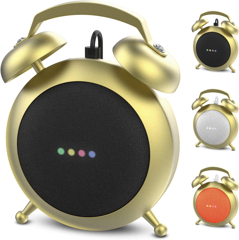 Soporte Stand Estilo Reloj Para Google Home Mini dorado