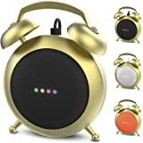 Google Home Mini Stand Holder, Retro Alarm Clock Stand Mount Base Protective Case Compatible with Google Home Mini (Gold)