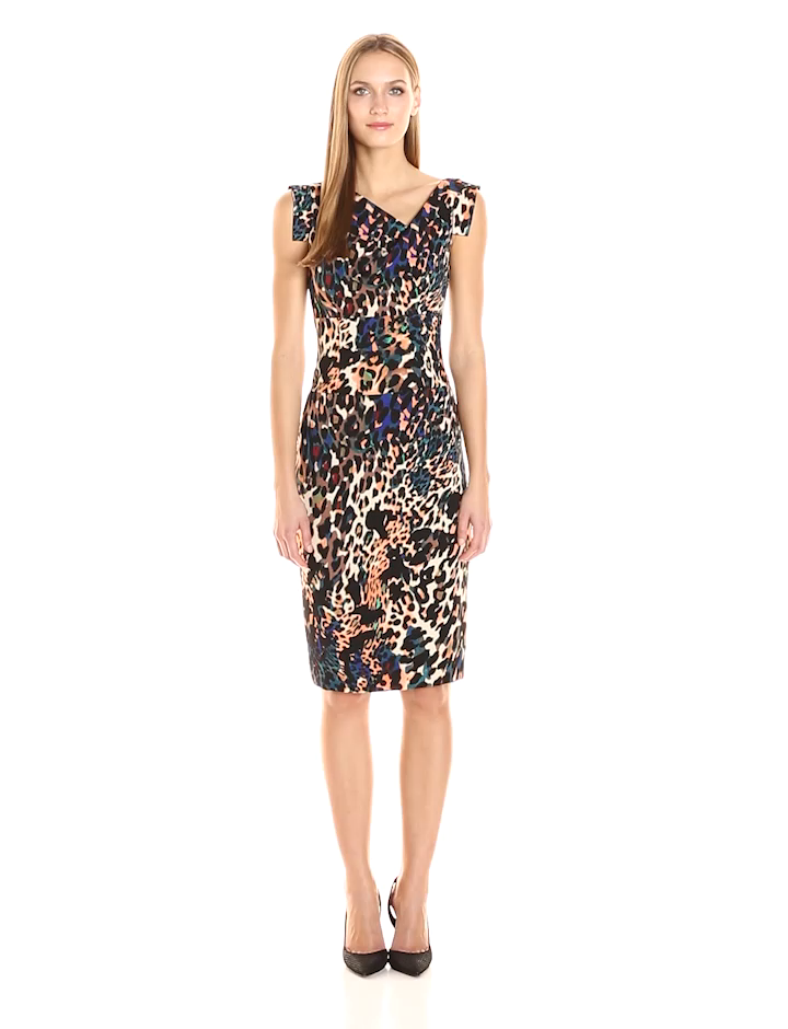 3756e3a2e7 Amazon.com  Black Halo Women s Animal Print Jackie O Dress  Clothing
