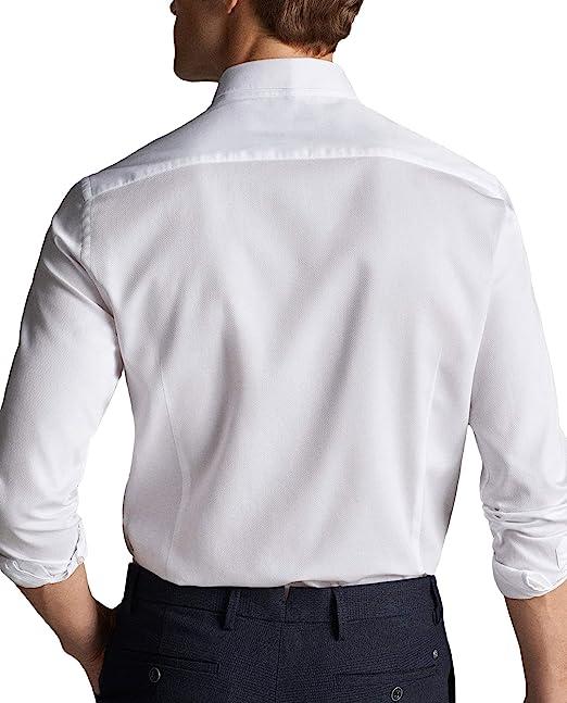 MASSIMO DUTTI - Camisa de algodón para Hombre (Tejido Texturizado, 0103/120/250): Amazon.es: Ropa y accesorios