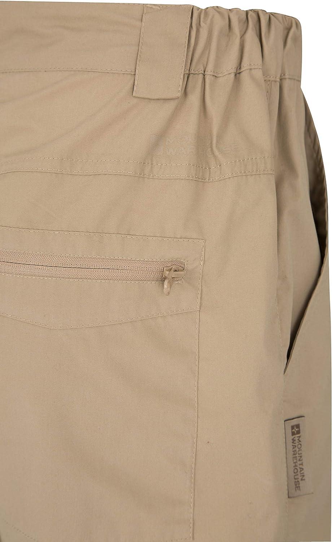 Pantaloni Casuali del Pacchetto Facile Mountain Warehouse Trek Pantaloni di Mens di Viaggio 6 Tasche per Hiking Pantaloni asciutti rapidi Pantaloni Corti Leggeri