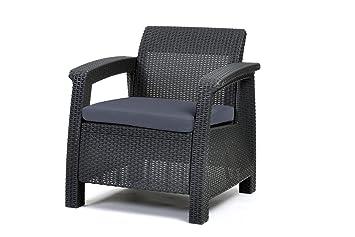 Lounge sessel rattan grau  Amazon.de: Keter Lounge Sessel, Rattan, Korfu Kunststoff Lounge ...