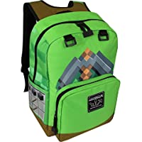 JINX Minecraft 17 Pickaxe Adventure Kids Backpack - Green (Green N/A)