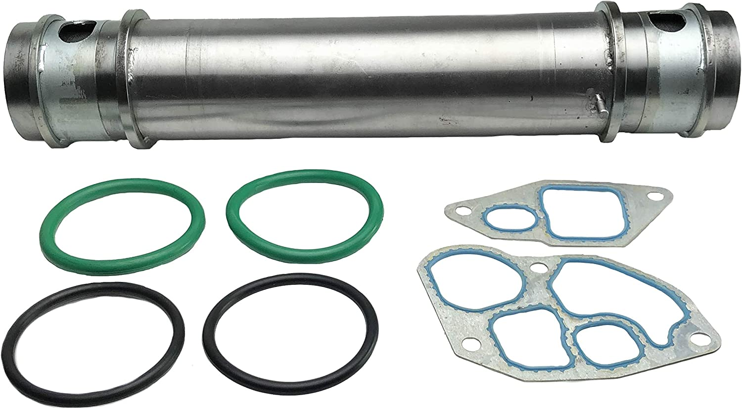 7.3L Super Duty Powerstroke Ford F250 F350 F450 F550 F-650 F-750 E350 E450 E550 Econoline Excursion 1C3Z-6A642-AA Diesel Oil Cooler Kit With Gaskets Compatible with 1994-2003